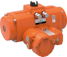 Bettis Q-Series Valve Operating System (VOS) With Pneumatic Rack and Pinion Actuator