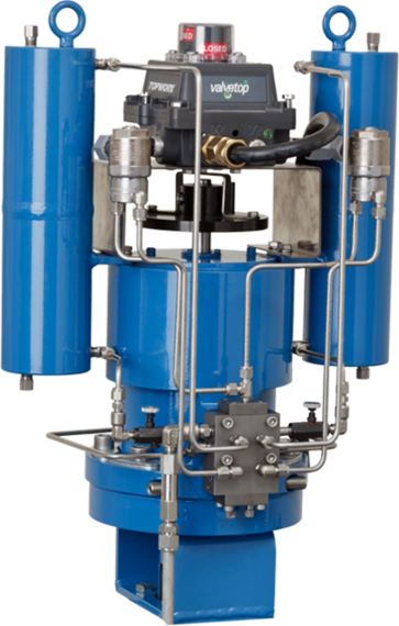 Shafer SH-Series Helical Spline Gas over Oil Actuator