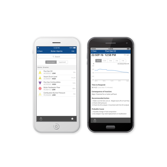 DeltaV Mobile screen iOS and Android
